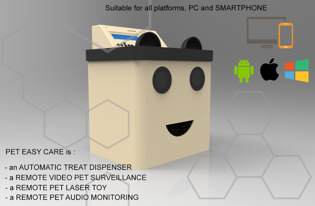 Pet Easy Care is controllable remotly by a web panel. Every dispenser have a personal account.